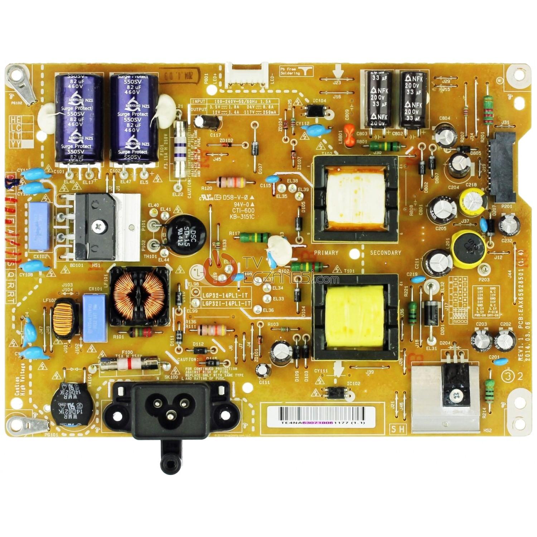LGP32I-14PL1-IT, EAX65628501 (1.5), EAY63071803, EAX65628501, LC320DXE (MG)(A3), LG 32LF580N, LG, 32LF580N-ZA, POWER BOARD