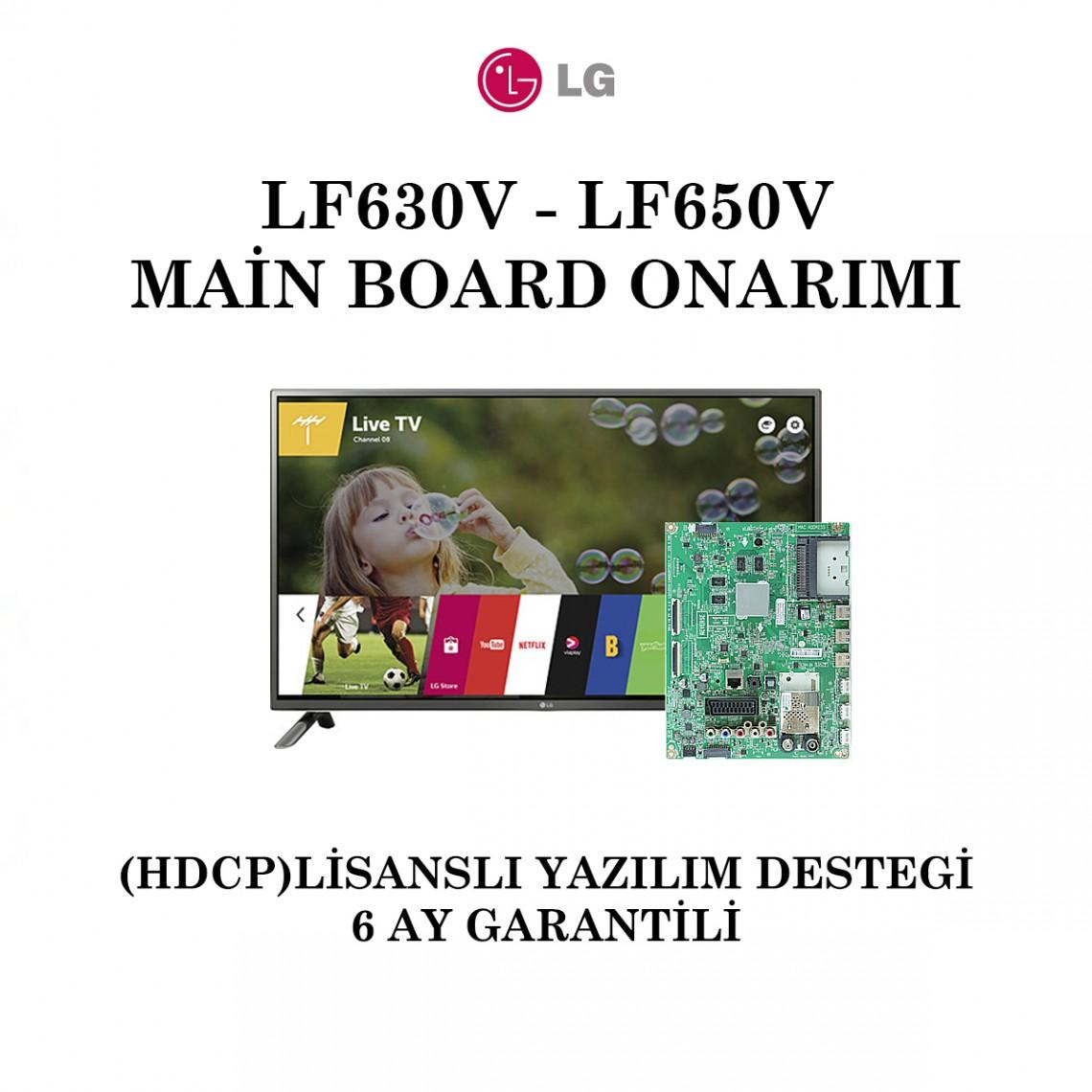 LG, LD / LE51H, EAX66207203(1.0), EAX66207202(1.2), 32LF630V, 32LF650V, 42LF650V, 50LF650V, 55LF650V, Main Board Onarımı