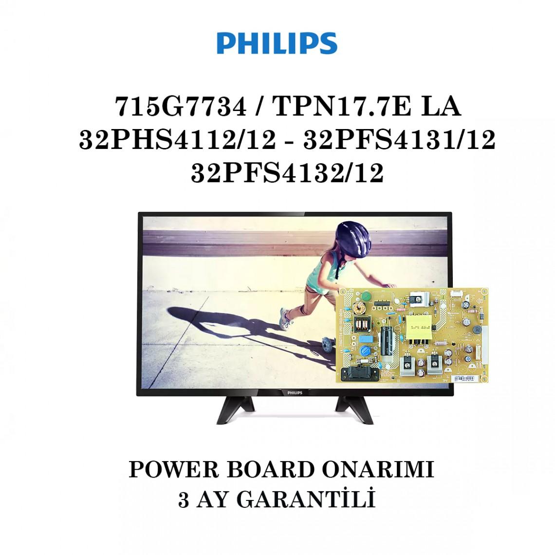 PHILIPS, 715G7734-P01-005-002H, 715G7734-P01-001-002M, 715G7734-P02-005-002H, 32PHS4112/12, 32PFS4131/12,  32PFS4132/12, Power Board Onarımı