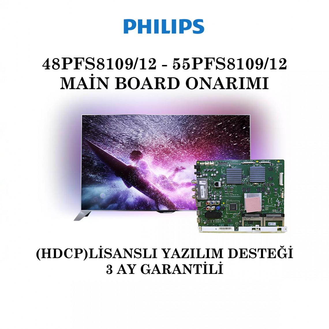 PHILIPS , 715RLPCB0000000055 , QV14.1E , 48PFS8109/12 , 55PFS8109/12 , Main Board Onarımı
