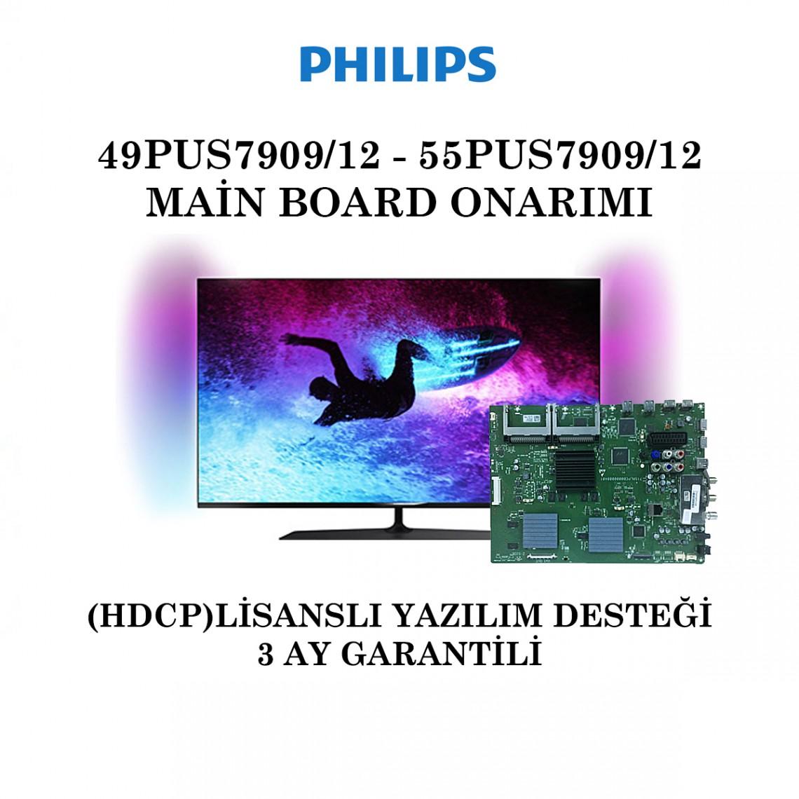 PHILIPS , 715RLPCB0000000401 , 49PUS7909/12 , 55PUS7909/12 , QV14.1E , Main Board Onarımı