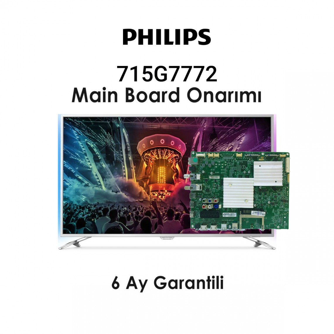PHILIPS, QM16.3E, 715G7772-M01-B00-005K , 715G7772-M0D-B00-005K , MAIN BOARD ONARIMI