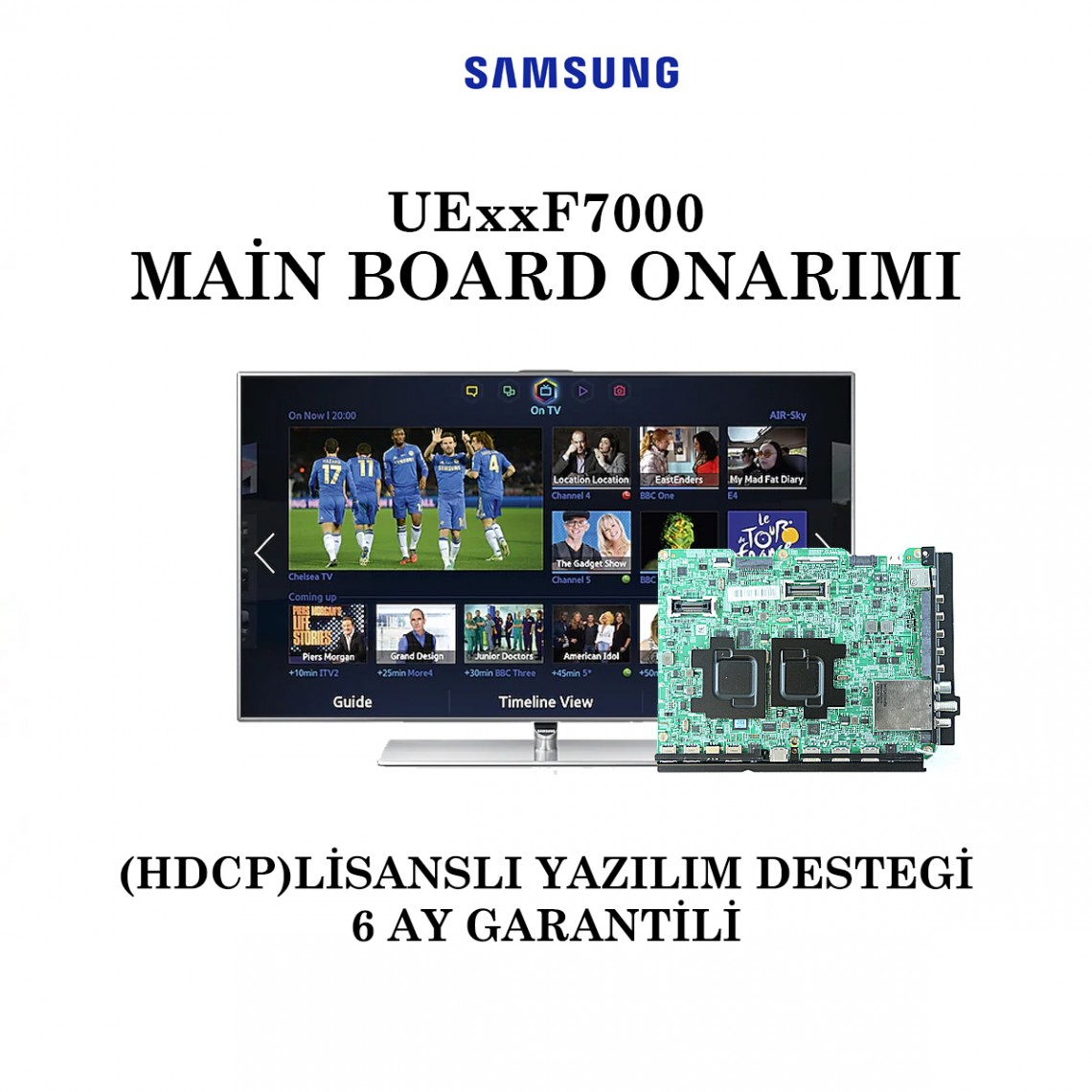 SAMSUNG, BN41-01973A, UE40F7000, UE46F7000, UE55F7000, UE60F7000, Main Board Onarımı