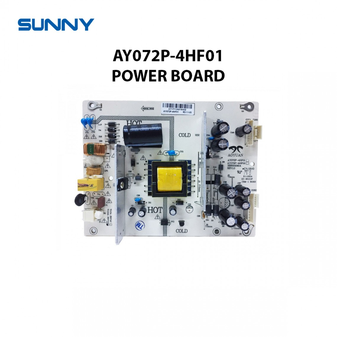 AY072P-4HF01 , 3BS0045614 , REV:1.0 , Sunny , AX032DLD12AT022-TM , AX032DLD12SB021-KM, BESLEME KARTI ,POWER BOARD