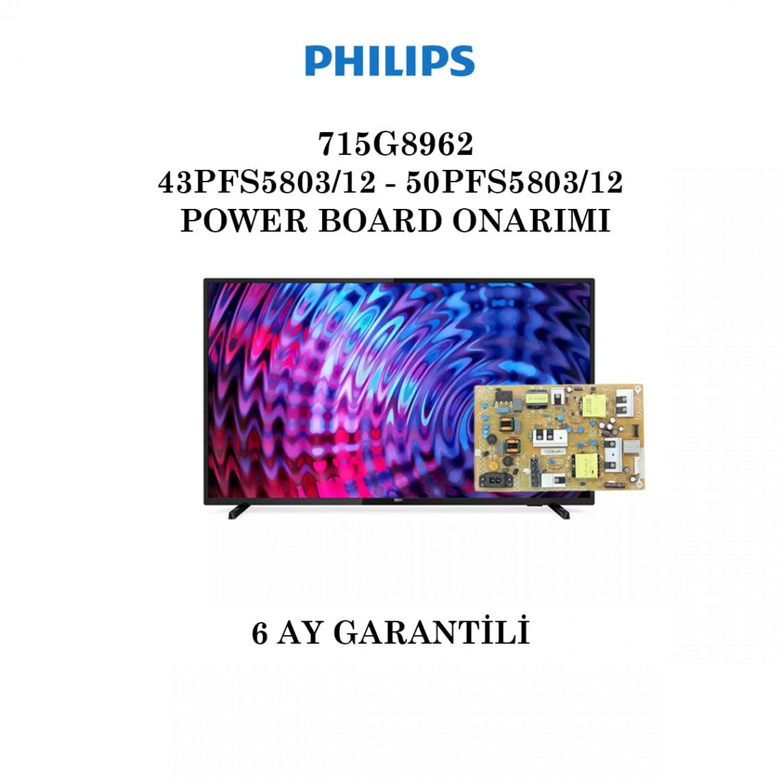 PHILIPS, 715G8962-P02-000-001S, 43PFS5803/12, 50PFS5803/12, Power Board Onarımı