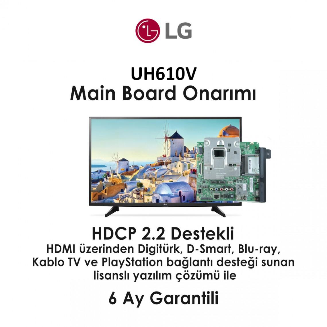 UD65S, EAX66943504 (1.0), 43UH610V, 49UH610V, Main Board Onarımı