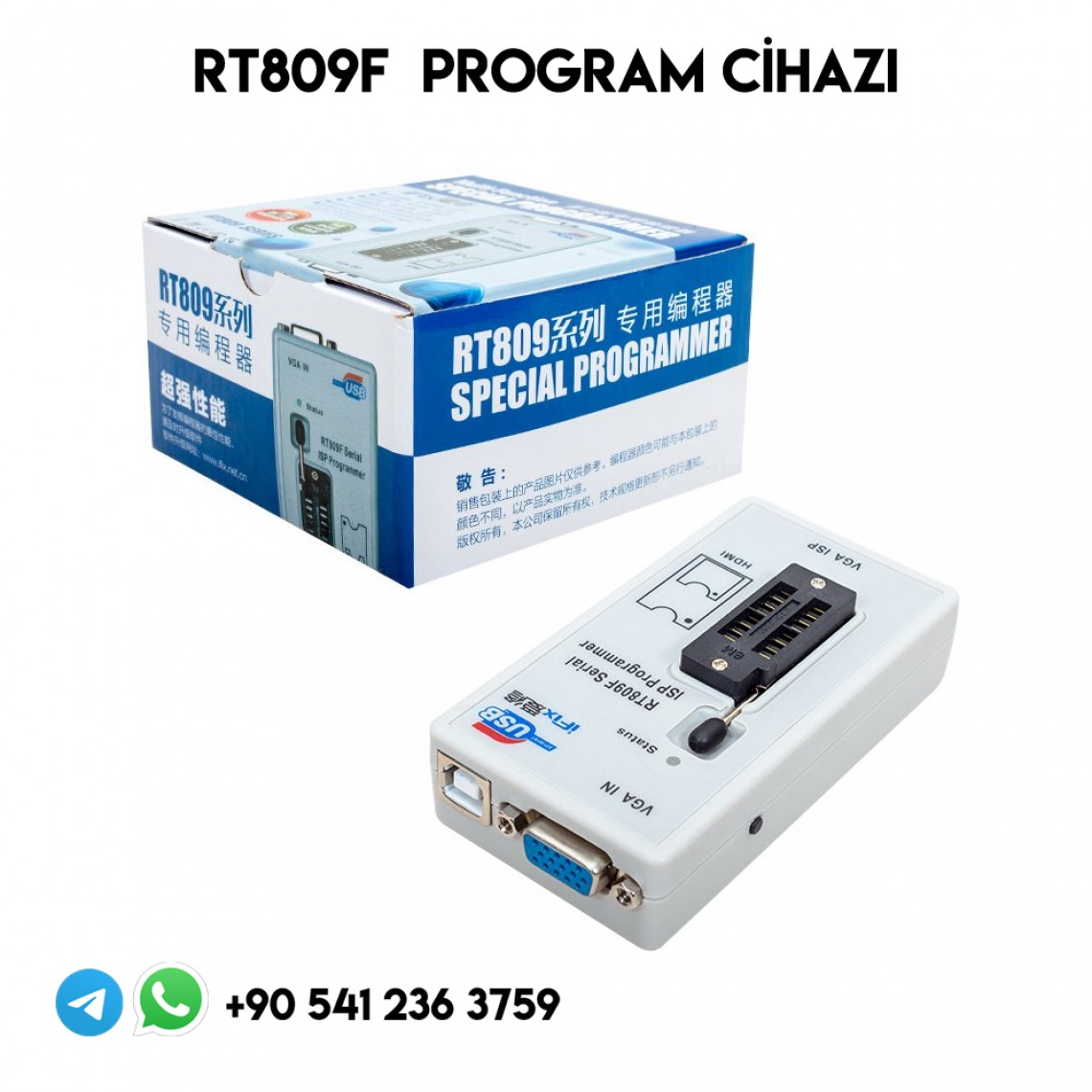 RT809F, Serial ISP PROGRAMMER, SPİ, EPROM, MCU, BİOS, PROGRAM CİHAZI