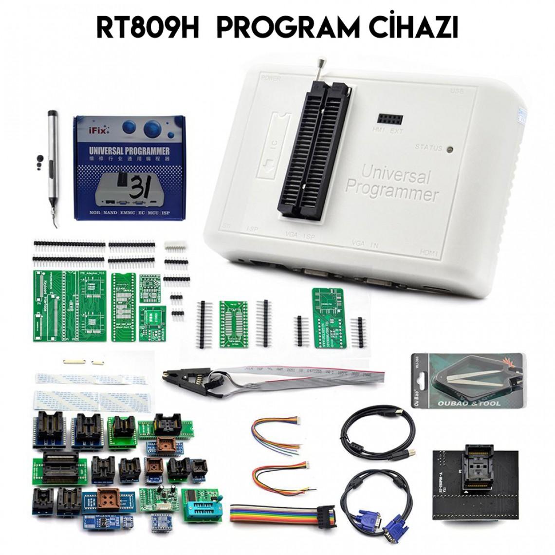 RT809H, Universal Programmer, eMMC, Nand, Spi, Eprom, Mcu, Bios, Program Cihazı