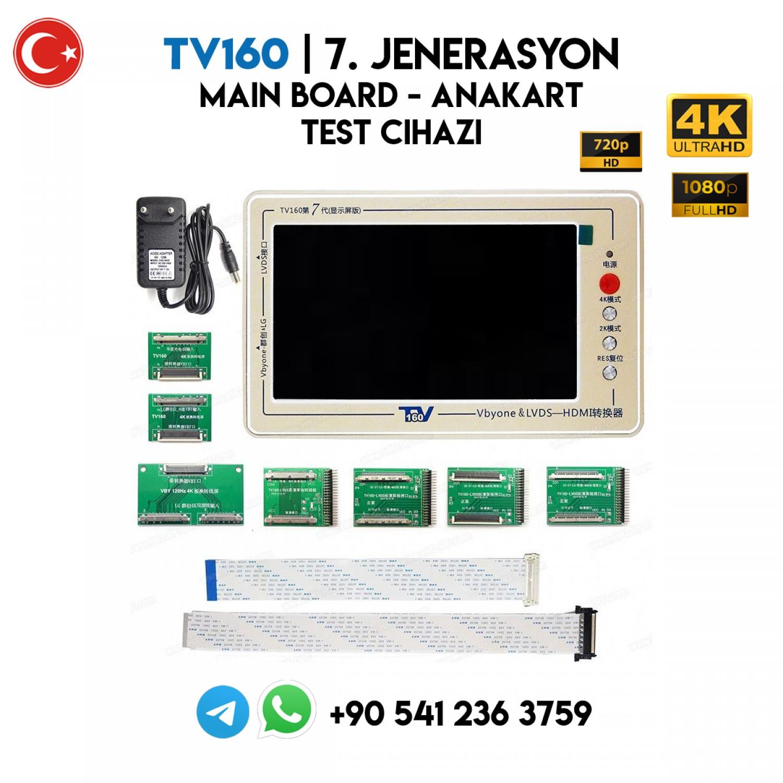 TV160   7. JENARASYON, Lcd, Led TV Main Board, Anakart Test Cihazı, 4K, 2K, FULL HD, HD READY